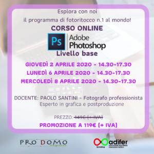 CORSO ONLINE ADOBE PHOTOSHOP - Livello base @ Sant'Antonio   Emilia-Romagna   Italia